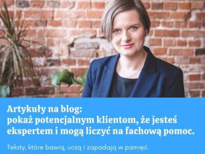 Artykuły na blog / Olga Skorupka
