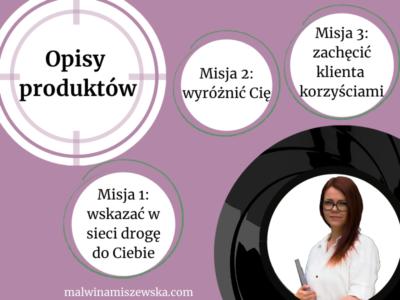 Opisy produktów / Malwina Miszewska