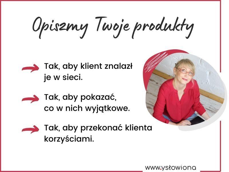 Opisy produktów / Aneta Łacwik