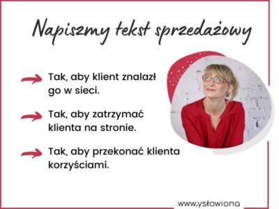 Oferty, teksty na landing page / Aneta Łacwik