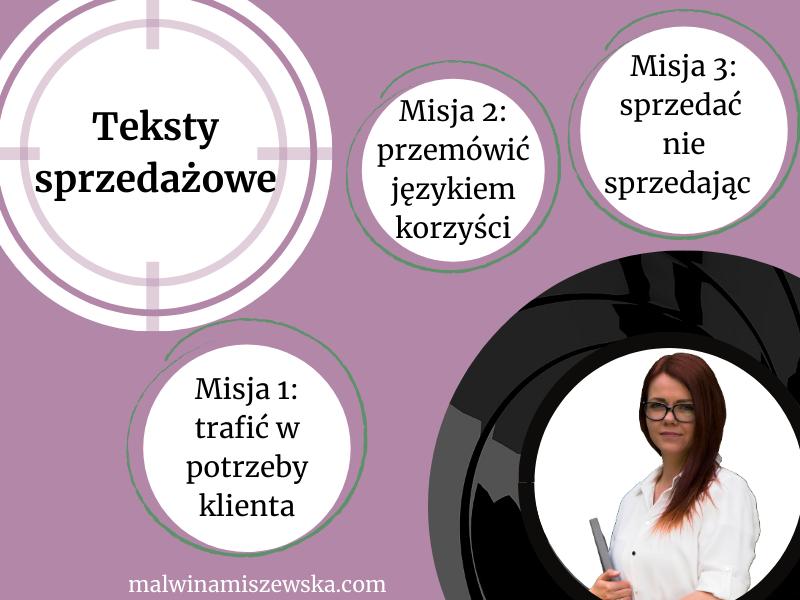 Oferty, teksty na landing page / Malwina Miszewska