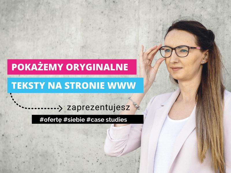 Teksty na stronę WWW / Marzena Motyczka